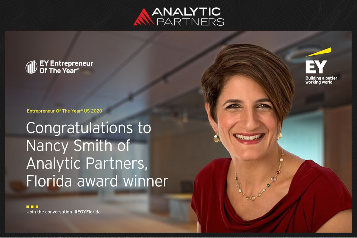 EY Announces Nancy Smith of Analytic Partners as an Entrepreneur Of The Year